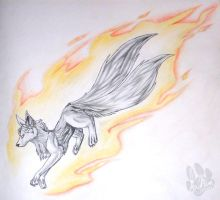Flaming Fox by InuMimi