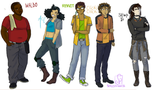 Human!DinoTrux - The Reptools by SpicePrincess