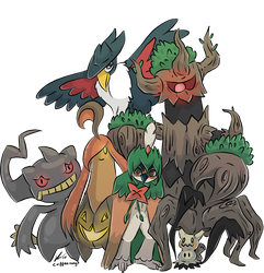Halloween Team Evolved by o0NeonCola0o