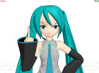 MMD Miku does not approve by Quinn21C