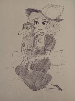 Eclipsa and little Toffee by HerrFenix1939