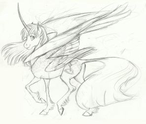 Sketchadoodle- Fausticorn by Earthsong9405