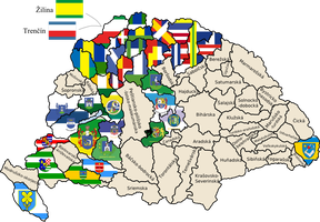 Flag map of counties of the Kingdom of Hungary by hosmich