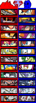 Dissidia: Sonic The Hedgehog (extra characters) by 4xEyes1987