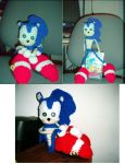 Sonic the Hedgehog Crocheted by cyla-knits