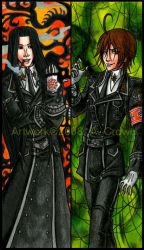 Isaak and Dietrich Bookmarks by psycrowe