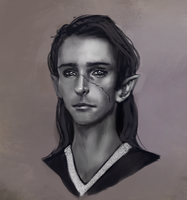 Elf sketch by JordyLakiere