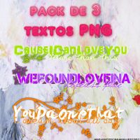 +3 textos PNG Pack #01 by worldofrainbow