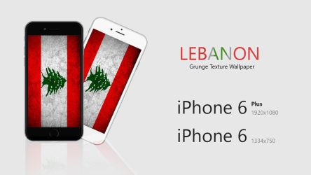 LebanonFlag iPhone 6/6Plus Wallpaper by yousefcia