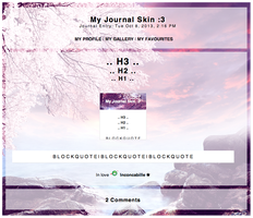[ Simple Journal Skin 1 ] by Inconcabille