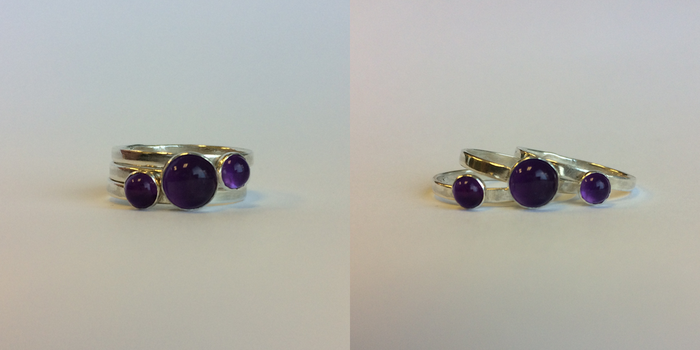 Amethyst Ring Set by Valkyrie444