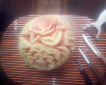 Watermelon Carving 2 by AmaranthLevana