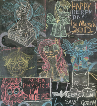 [2012] Assorted Chalk Drawings by messyb