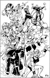 Commission: Legion of Doom (inks) by CrimeRoyale