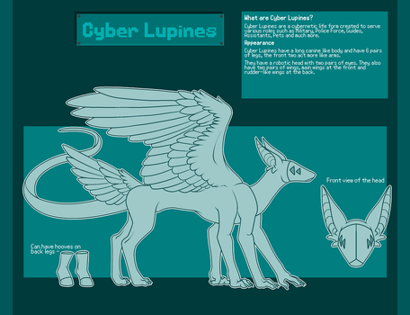 Cyber Lupines [Closed Species] by SerifAdopts