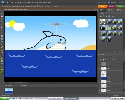 Helicopter Whale WIP by effervescency