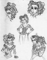 Sketches of Lovett by IvyKesner
