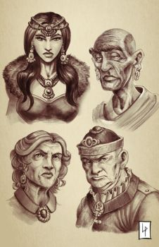 Characters sketches comp 2 by Savedra