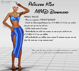 {MMD DOWNLOAD} Princess Kida by MariCorsair