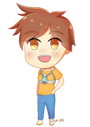 Tracer from Overwatch Simple Chibi by Lye-chii
