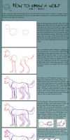 How to draw a wolf - Tutorial by Leeomon