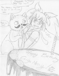 Gigamessy's Birthday (Surprise Sketch) by Typhoon-Manga
