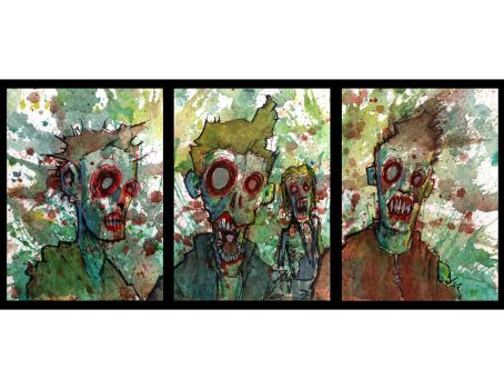 zombie triptych by BYRONvonREMPEL