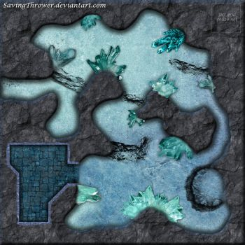 Clean crystal cave battlemap (roll20) by SavingThrower