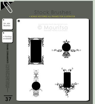 Brush Pack - Frame Ornaments by MouritsaDA-Stock
