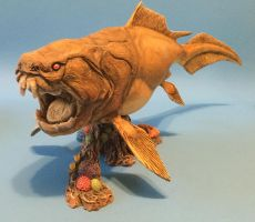 Dunkleosteus, sculpted by Sean Cooper by modelnut