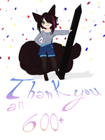 THANK YOU ALL 600+ WATCHERS by chizuny