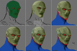 Martian Manhunter Step by Step by daniel-morpheus