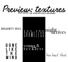 Icon-Sized Text Textures 001 by sweetexcerpt
