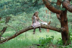 In the woods with a rabbit (12) by anastasiya-landa