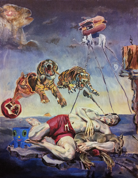 Dream inspired by tigers jumping out of a fish by porkcow
