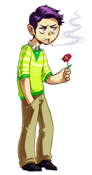 PMA - Son you better eat that flower by synodicmeg