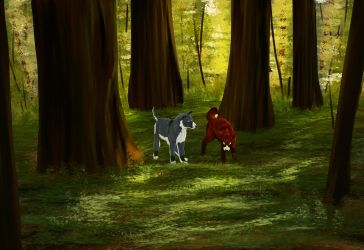 Felvargs- Luka and Marko wander the forest by deadlylupine