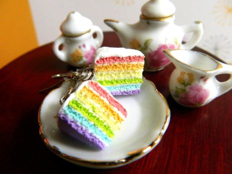 Pastel Rainbow Cake Slices by Xiiilucky13