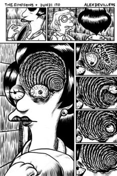 Simpsons + Junji Ito 2 by Alex-Cooper