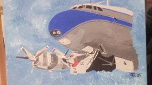 Lockheed  painting by CoonArt
