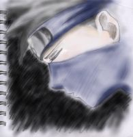 Colored Sketch of Kakashi by mooni