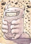 Cute Monster ACEO ATC by Siriliya