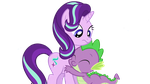 Starlight and Spike - Spike hugs Starlight by nejcrozi