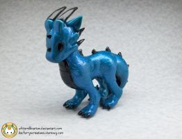 Big Blue Dragon by whitemilkcarton
