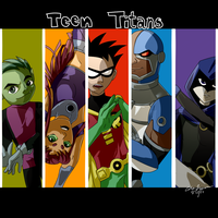 Teen Titans by wanderingway