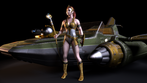 MOTU - Teela and the Wind Raider 2 by paulrich