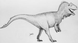 Allosaurus  by TheGreatestLoverArt