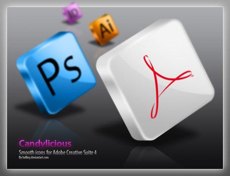 Candylicious Adobe CS4 icons by Balling