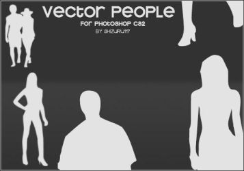 Vector People Brushes by Shizuru117