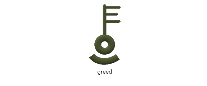 Evil Crest of greed by titushandcock
